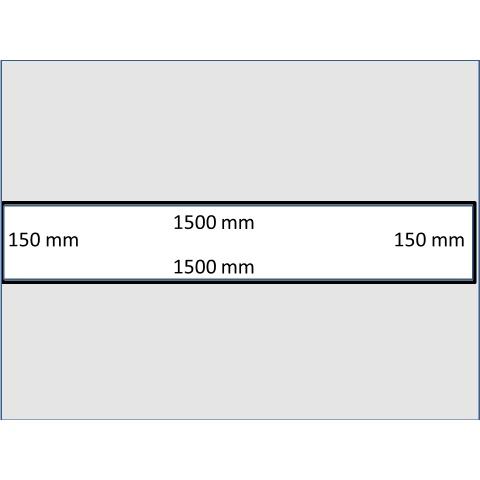 Rozměry typické střední bramy - - - Dimensions of a typical medium thick slab
