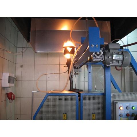 Detailní pohled na spalování plynných produltů koksování - - - Detailed view of combustion of gaseous products of coking