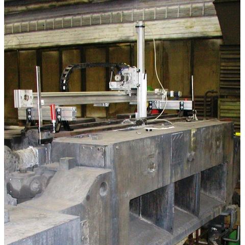 Instalace systému MKL-brama pro měření na krystalizátoru 1500/150 mm - Installation of the MKL-slab equipment on a 1500/150 mm CCM mould