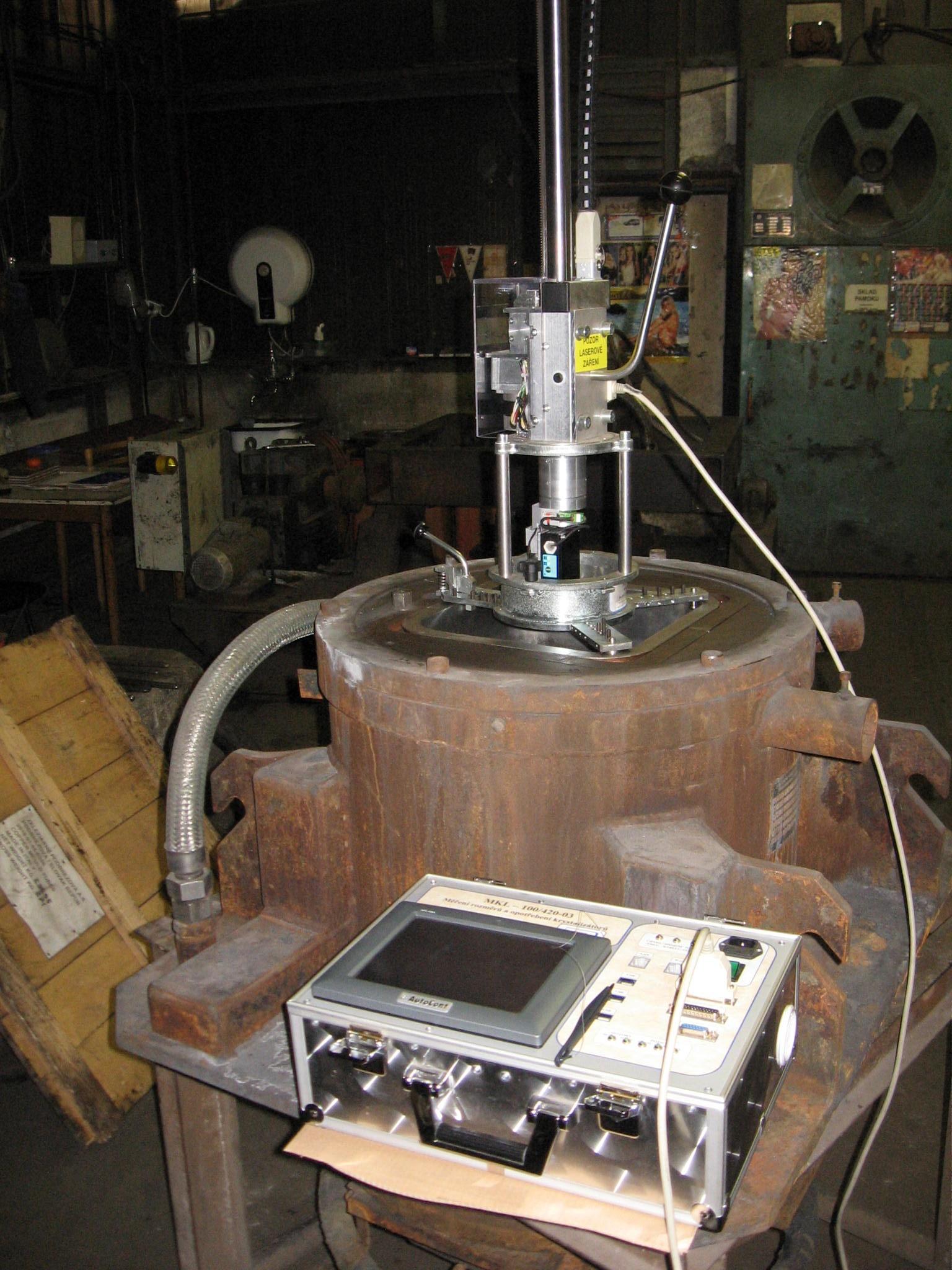 Systém MKL připravený k měření - - - The MKL system ready for measurement